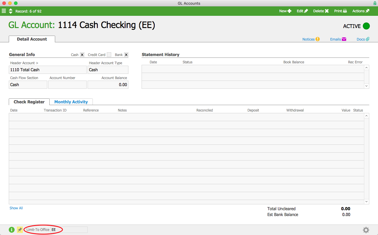 Cash Checking EE